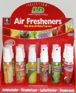 12 x Pump Airfreshener's Eco Friendly With No Gas 6 x Assorted Fragrances